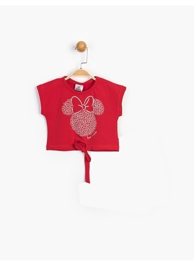 Minnie Mouse   Çocuk Tişört 16262 Kırmızı
